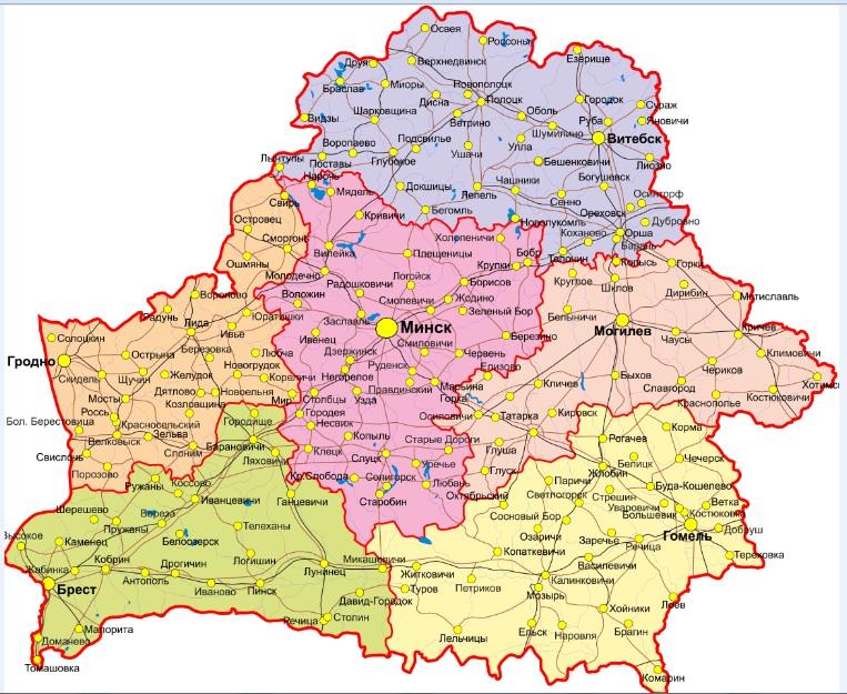 map belarus 1